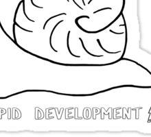 Speed of Development Sticker