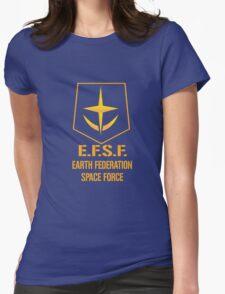 Gundam Earth Federation Womens Fitted T-Shirt