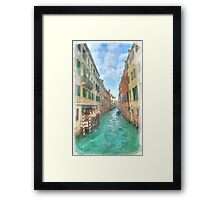 Venetian watercolour Framed Print