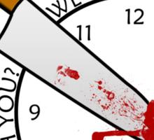 Killing Time Sticker
