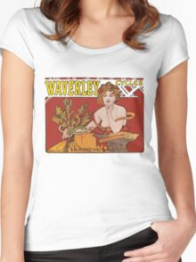 Mucha - Waverly Cycles Women's Fitted Scoop T-Shirt