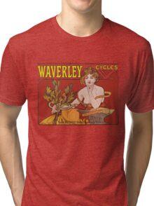 Mucha - Waverly Cycles Tri-blend T-Shirt