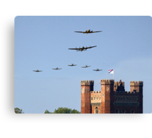 BBMF 2013 Big Formation over Tattershall Castle  Canvas Print