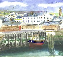 Peel Harbour Isle of Man by CreativMichelle