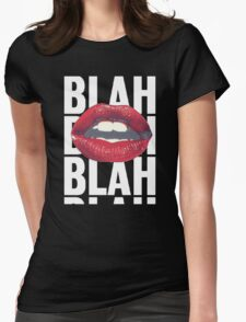 Blah Blah Lips Kiss Tumblr Fashion Womens Fitted T-Shirt