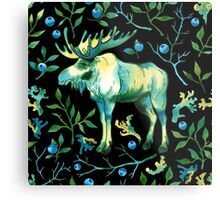 Watercolor elk Metal Print