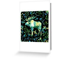 Watercolor elk Greeting Card