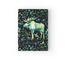 Watercolor elk Hardcover Journal