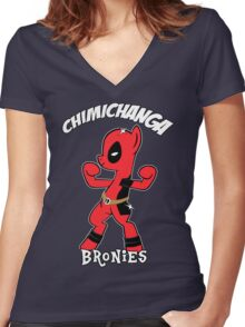 My Little Brony Pony Women's Fitted V-Neck T-Shirt