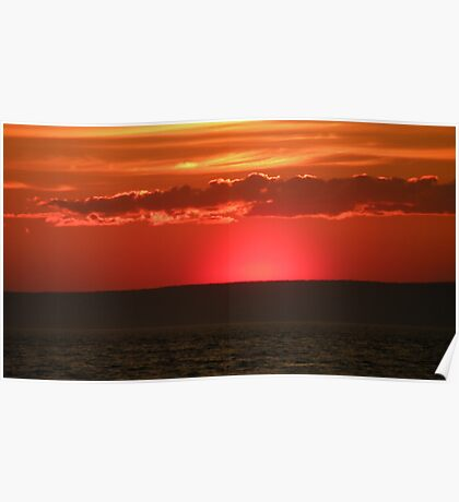 Sunset Over the Bay of Fundy Poster