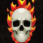 Flaming Skull by MrPeruca