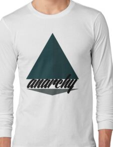 Anarchy Tee Large Print Long Sleeve T-Shirt