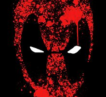 Deadpool digital splatter by justin13art