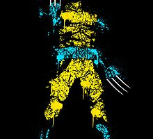 Logan digital splatter by justin13art