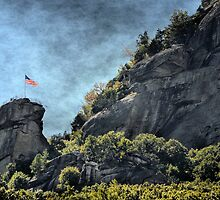 Flag at Chimney Rock by Brian Gaynor