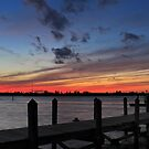 dock sunset by cliffordc1