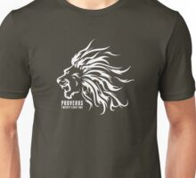 Proverbs 28:1 Ragnar Supporters Lion Raw White Unisex T-Shirt