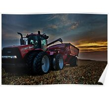 Sunset Corn Harvest Poster