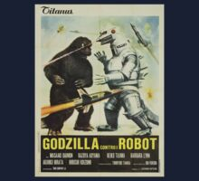 'Godzilla vs. The Robot' Vintage Japanese Poster Art T-Shirt by TrueLoveTees