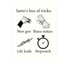 Ianto's box of tricks Art Print