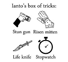 Ianto's box of tricks Photographic Print