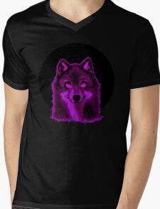 Pink wolf Mens V-Neck T-Shirt