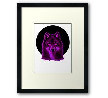 Pink wolf Framed Print