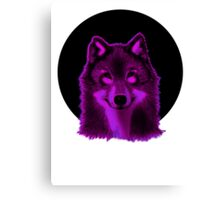Pink wolf Canvas Print