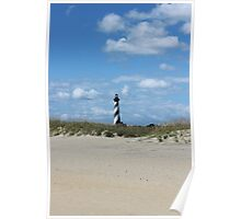 Cape Hatteras Light from the beach Poster