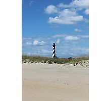 Cape Hatteras Light from the beach Photographic Print