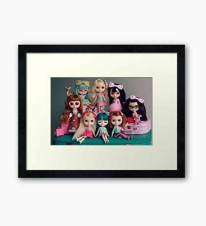 For the Love of Lounging Linda Framed Print