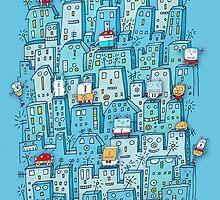 Little Robot City by Carla Martell