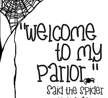 Spiders Spiderweb Creepy Goth Halloween Print by geekchicprints