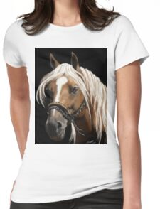 The Palomino - Horse Portrait Painting Womens Fitted T-Shirt