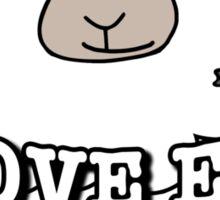 I Love EWE This Much! Sticker