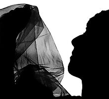 Woman, Silhouette, Fabric by Aaron McDermott
