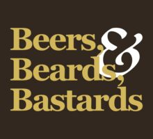Beers, Beards, & Bastards Show Logo Shirt by bbbpodcast