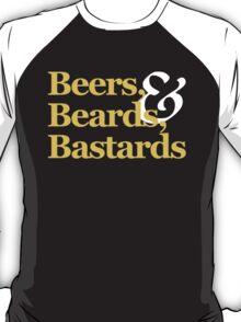Beers, Beards, & Bastards Show Logo Shirt T-Shirt