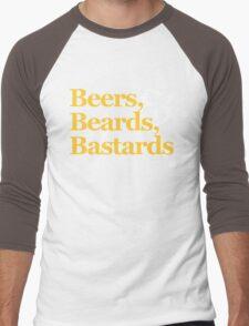 Beers, Beards, & Bastards Show Logo Shirt Men's Baseball ¾ T-Shirt
