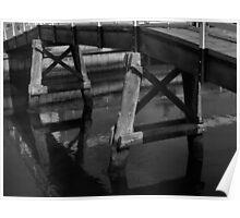 Kananook Creek Foot Bridge.  Poster