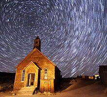 Star Trails at Bodie by Cat Connor