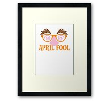 APRIL fool funny mask disguise costume Framed Print