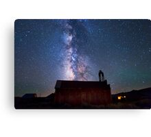 Fire Station and Milky Way Canvas Print