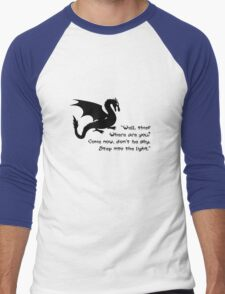 Don't Be Shy Men's Baseball ¾ T-Shirt