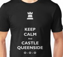 Keep Calm and Castle Queenside Unisex T-Shirt