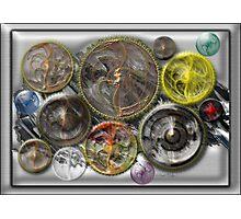 ©DA Fractal Power Wheel Process IA Photographic Print