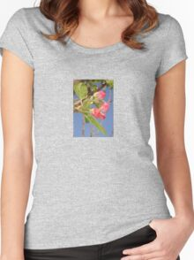 Spring Apple Blossom Flowers  Women's Fitted Scoop T-Shirt