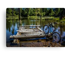 Mountain Biking can take you anywhere! Canvas Print