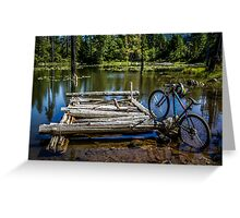 Mountain Biking can take you anywhere! Greeting Card