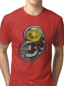 ©DA Fractal Power Wheel Process IA Tri-blend T-Shirt